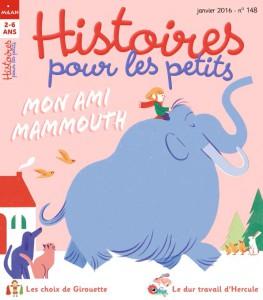 Couverture Histoires pour les petits : Mon ami mammouth - Janvier 2016