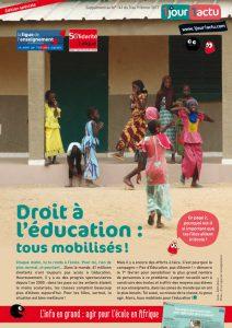 Droit à l'éducation - 1jour1actu