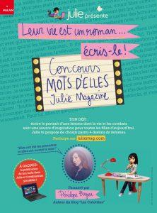 Affiche concours Mots d'elles - Julie Magazine
