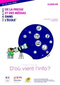 Affiche Semaine de la Presse et des Médias dans les écoles