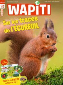 Couverture Wapiti Sur les traces de l'écureuil