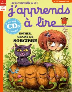 """Couverture J'apprends à lire """"Esther, graine de sorcière""""Novembre 235"""