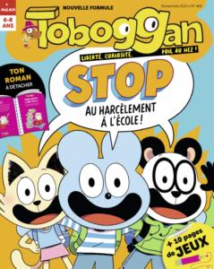 Couverture Toboggan magazine au harcèlement à l'école