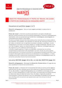 Fiche pédagogique planète Wapiti magazine